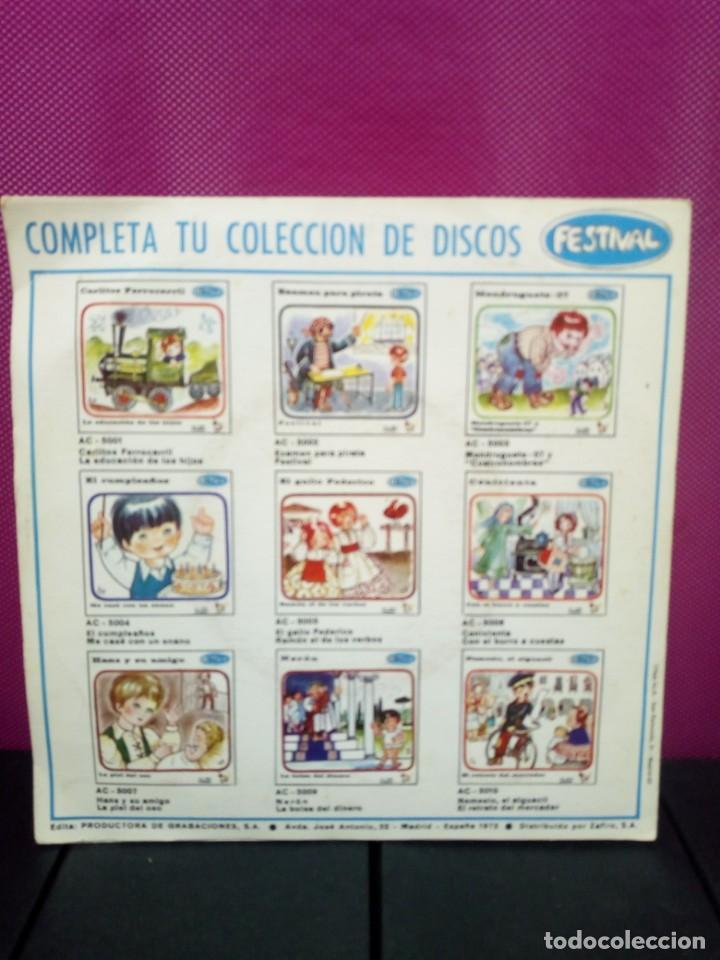Discos de vinilo: CUENTOS INFANTILES FESTIVAL JAVIERITO Y EL LADRON DE CABALLOS Y ANTONIO ANTONIO AÑOS 70 - Foto 2 - 145556530