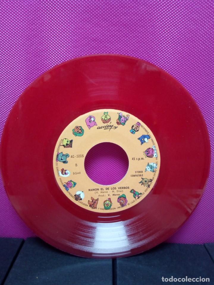 Discos de vinilo: CUENTOS INFANTILES FESTIVALEL GALLO FEDERICO Y RAMON EL DE LOS VERBOS AÑOS 70 - Foto 3 - 145556586