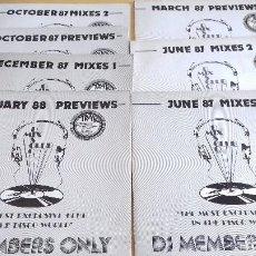 Discos de vinilo: DJ MEMBERS ONLY -LOTE 7 EDICIONES (VER IMAGENES)- AÑO 87/88 - DISCO MIX CLUB. Lote 148067470