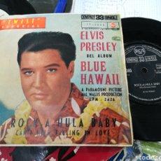 Discos de vinilo: ELVIS PRESLEY SINGLE ROCK-A-HULA BABY ESPAÑA 1961. Lote 145577870