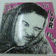 Discos de vinilo: IN YOUR FACE! EP 1991 THE SUBTERFUGE COMPILATION VOL. 2 -DRAPS BRUTS-BECKS PISTOLS-VIVORAS-FREEZER-N. Lote 177463428