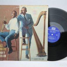 Discos de vinilo: DISCO DE VINILO - JAZZ CONTRASTS / KENNY DORHAM WITH SONNY ROLLINS - RIVERSIDE - AÑOS 50 - USA. Lote 145595754