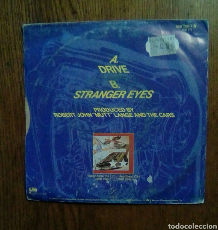 Discos de vinilo: The Cars - Drive / Stranger Eyes, Wea, 1984. France. - Foto 2 - 145597500