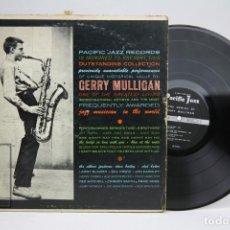 Discos de vinilo: DISCO DE VINILO - GERRY MULLIGAN / THE GENIUS OF GERRY MULLIGAN - PACIFIC JAZZ - AÑO 1960 - USA. Lote 145602998