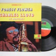 Discos de vinilo: DISCO DE VINILO - FOREST FLOWER CHARLES LLOYD AT MONTEREY - ATLANTIC - AÑO 1967 - USA - CON ENCARTE. Lote 145604786