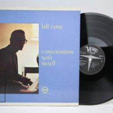 Discos de vinilo: DISCO DE VINILO - BILL EVANS / CONVERSATIONS WITH MYSELF - VERVE - AÑO 1963 - USA. Lote 145608826
