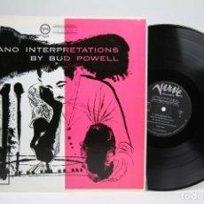 Discos de vinilo: DISCO DE VINILO - PIANO INTERPRETATIONS BY BUD POWELL - VERVE - AÑO 1981 - MADE IN JAPAN. Lote 145610254