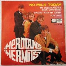 Dischi in vinile: HERMAN´S HERMITS - NO MILK TODAY + 3 TEMAS LA VOZ DE SU AMO - 1966. Lote 145634954