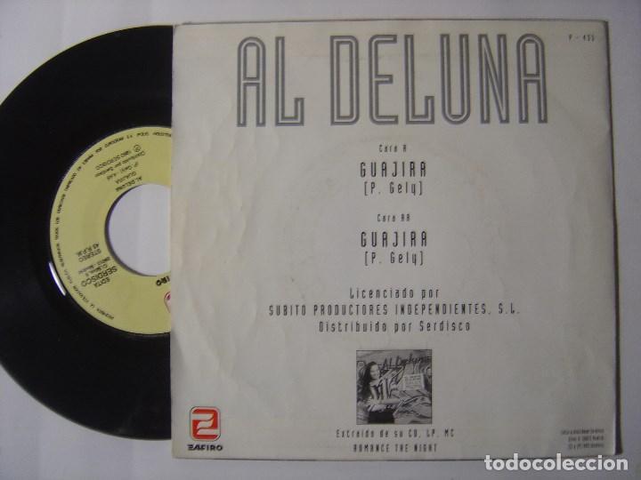 Discos de vinilo: AL DE LUNA - guajira - SINGLE PROMOCIONAL 1993 - ZAFIRO - Foto 2 - 145635510