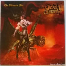 Discos de vinilo: OZZY OSBOURNE. THE ULTIMATE SIN. EPIC, SPAIN 1986 LP + ENCARTE. Lote 145652042