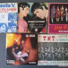 Discos de vinilo: LOTE SINGLES FORMULA V JUAN Y JUNIOR POP TOPS LOS ALBAS LOS T. N. T. Lote 145689018