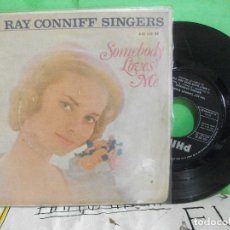 Discos de vinilo: RAY CONNIFF SINGERS SOMEBODY LOVES ME + 3 EP SPAIN 1962 PDELUXE. Lote 145689322