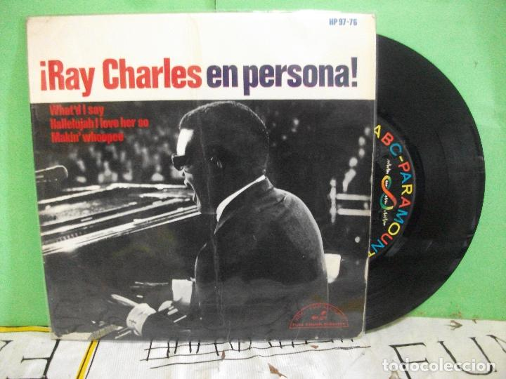 RAY CHARLES WHAT'D I SAY + 2 EP SPAIN 1965 PDELUXE (Música - Discos de Vinilo - EPs - Funk, Soul y Black Music)