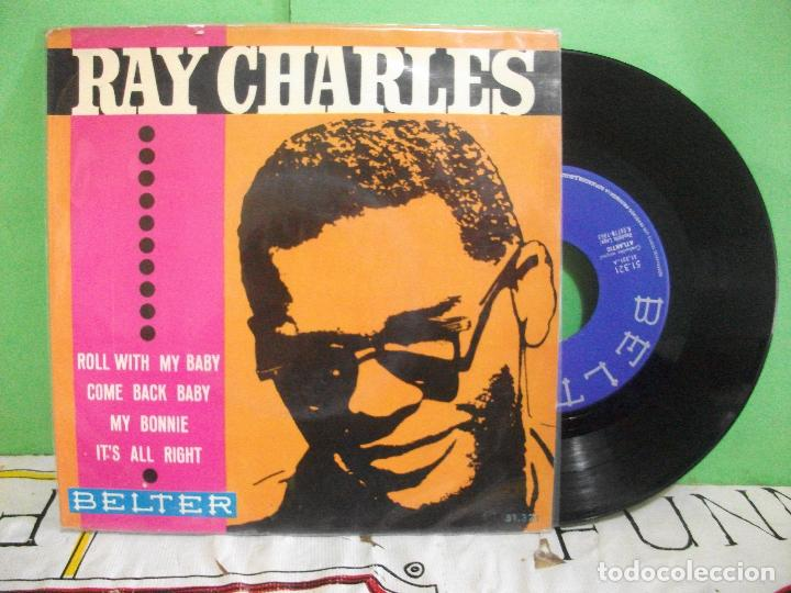 RAY CHARLES MY BONNIE . ROLL WITH MY BABY EP SPAIN 1963 PDELUXE (Música - Discos de Vinilo - EPs - Funk, Soul y Black Music)
