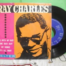 Discos de vinilo: RAY CHARLES MY BONNIE . ROLL WITH MY BABY EP SPAIN 1963 PDELUXE. Lote 145689686