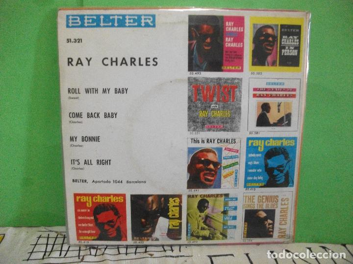 Discos de vinilo: RAY CHARLES MY BONNIE . ROLL WITH MY BABY EP SPAIN 1963 PDELUXE - Foto 2 - 145689686