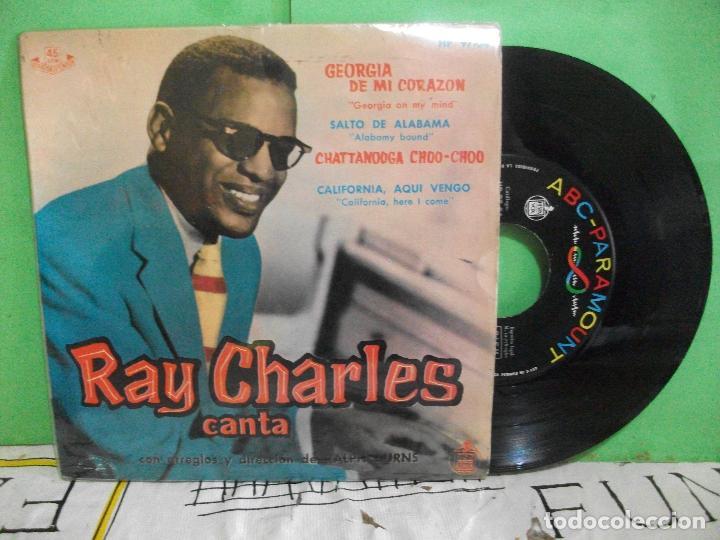 RAY CHARLES GEORGIA DE MI CORAZON + 3 EP SPAIN 1960 PDELUXE (Música - Discos de Vinilo - EPs - Funk, Soul y Black Music)