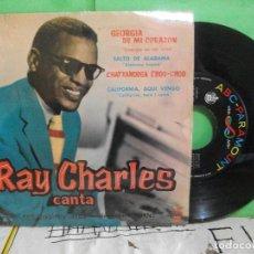 Discos de vinilo: RAY CHARLES GEORGIA DE MI CORAZON + 3 EP SPAIN 1960 PDELUXE. Lote 145689894