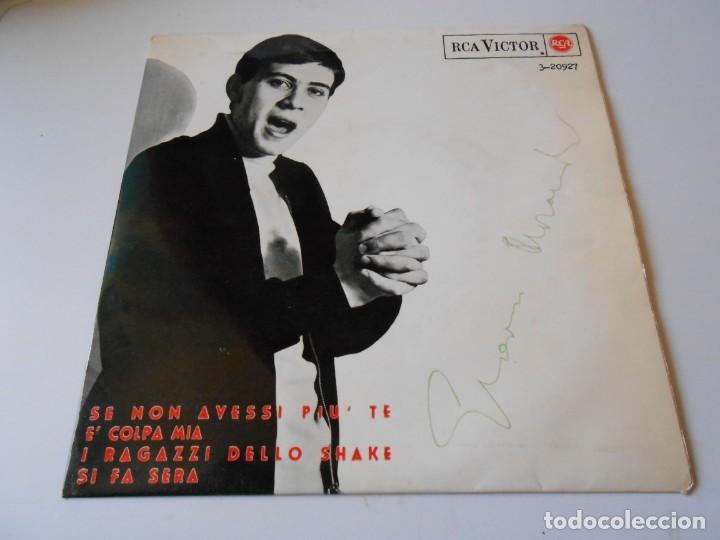 GIANNI MORANDI, EP, SE NON AVESSI PIU´ TE + 3, AÑO 1965 (Música - Discos de Vinilo - EPs - Canción Francesa e Italiana)