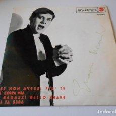 Discos de vinilo: GIANNI MORANDI, EP, SE NON AVESSI PIU´ TE + 3, AÑO 1965. Lote 145700882