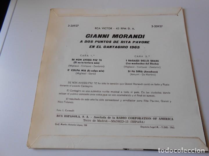 Discos de vinilo: GIANNI MORANDI, EP, SE NON AVESSI PIU´ TE + 3, AÑO 1965 - Foto 2 - 145700882