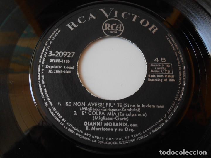 Discos de vinilo: GIANNI MORANDI, EP, SE NON AVESSI PIU´ TE + 3, AÑO 1965 - Foto 4 - 145700882