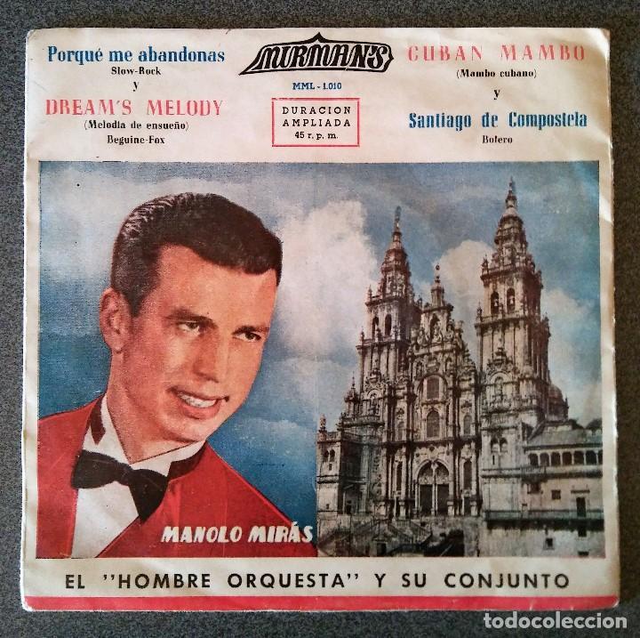 MANOLO MIRAS Y SU CONJUNTO LOS MIRMANS (Música - Discos de Vinilo - EPs - Solistas Españoles de los 50 y 60)