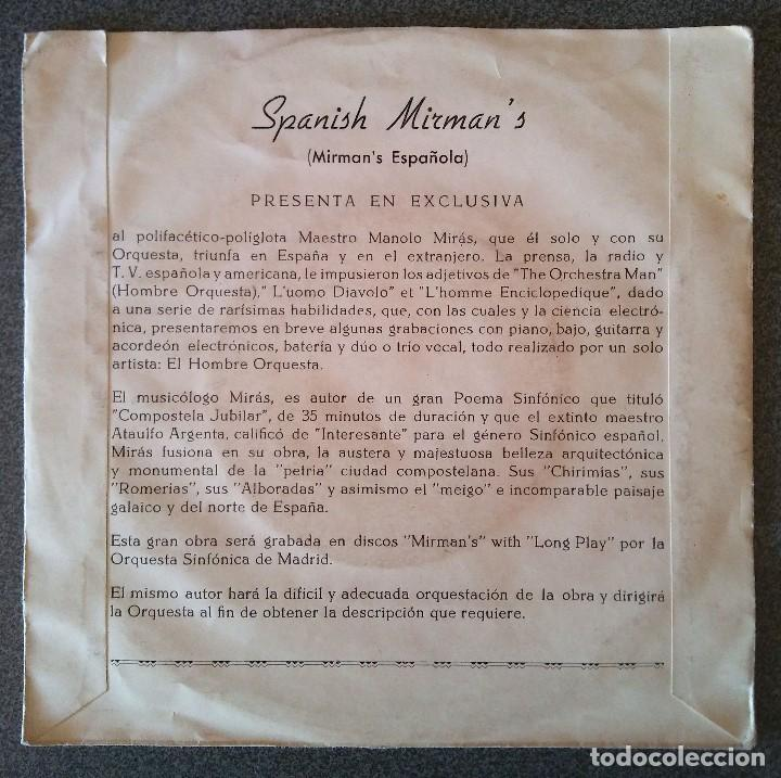 Discos de vinilo: Manolo Miras y su Conjunto los Mirmans - Foto 3 - 145707830