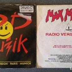 Discos de vinilo: LOTE SINGLES ALL SYSTEMS GO POP MUZIK MAX MIX 5. Lote 145711614