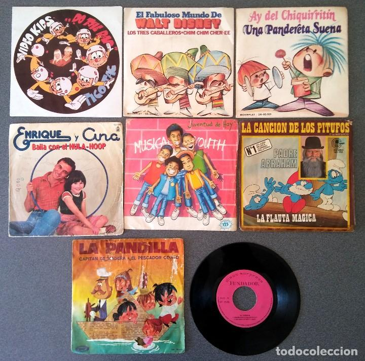 LOTE SINGLES VIDEO KIDS WALT DISNEY ENRIQUE Y ANA LA CANCIÓN DE LOS PITUFOS LA PANDILLA (Música - Discos de Vinilo - EPs - Música Infantil)