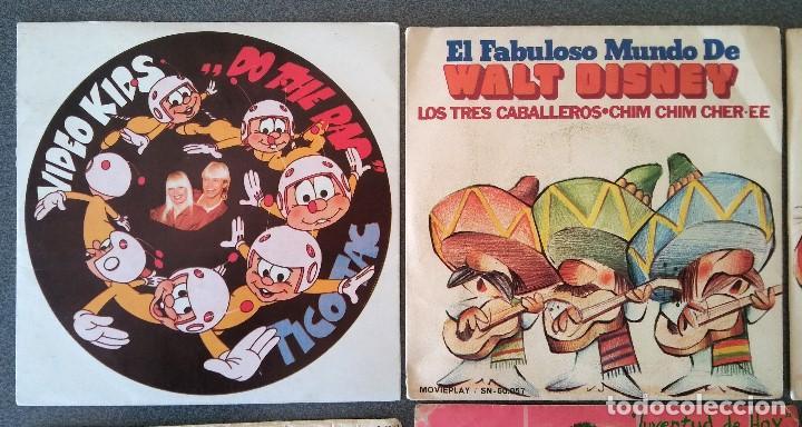 Discos de vinilo: Lote singles Video Kids Walt Disney Enrique y Ana La Canción de los Pitufos La Pandilla - Foto 2 - 145715114
