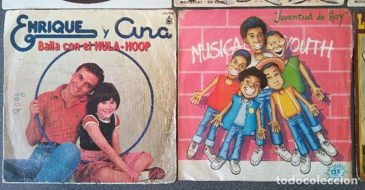 Discos de vinilo: Lote singles Video Kids Walt Disney Enrique y Ana La Canción de los Pitufos La Pandilla - Foto 4 - 145715114