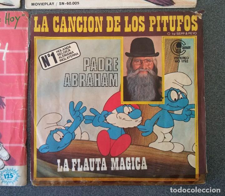 Discos de vinilo: Lote singles Video Kids Walt Disney Enrique y Ana La Canción de los Pitufos La Pandilla - Foto 5 - 145715114