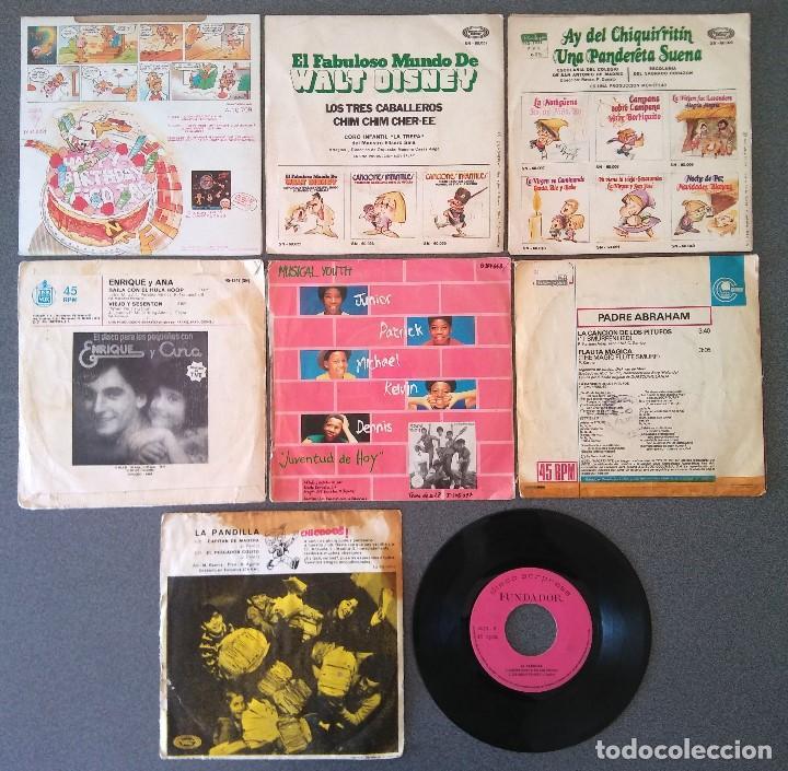 Discos de vinilo: Lote singles Video Kids Walt Disney Enrique y Ana La Canción de los Pitufos La Pandilla - Foto 7 - 145715114