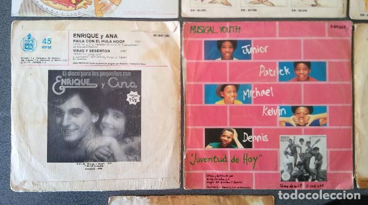 Discos de vinilo: Lote singles Video Kids Walt Disney Enrique y Ana La Canción de los Pitufos La Pandilla - Foto 10 - 145715114