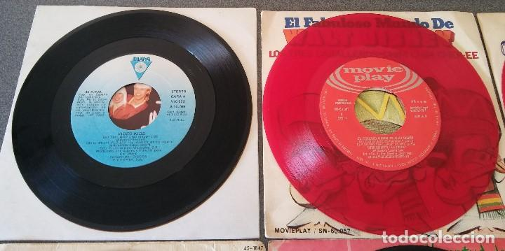 Discos de vinilo: Lote singles Video Kids Walt Disney Enrique y Ana La Canción de los Pitufos La Pandilla - Foto 13 - 145715114