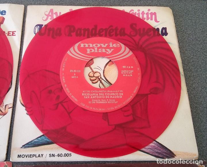 Discos de vinilo: Lote singles Video Kids Walt Disney Enrique y Ana La Canción de los Pitufos La Pandilla - Foto 14 - 145715114