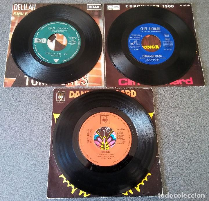 Discos de vinilo: Lote singles Tom Jones Cliff Richards Danyel Gerard - Foto 2 - 145715678