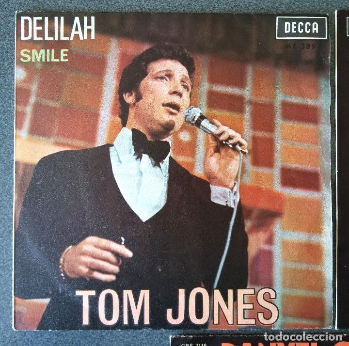 Discos de vinilo: Lote singles Tom Jones Cliff Richards Danyel Gerard - Foto 3 - 145715678