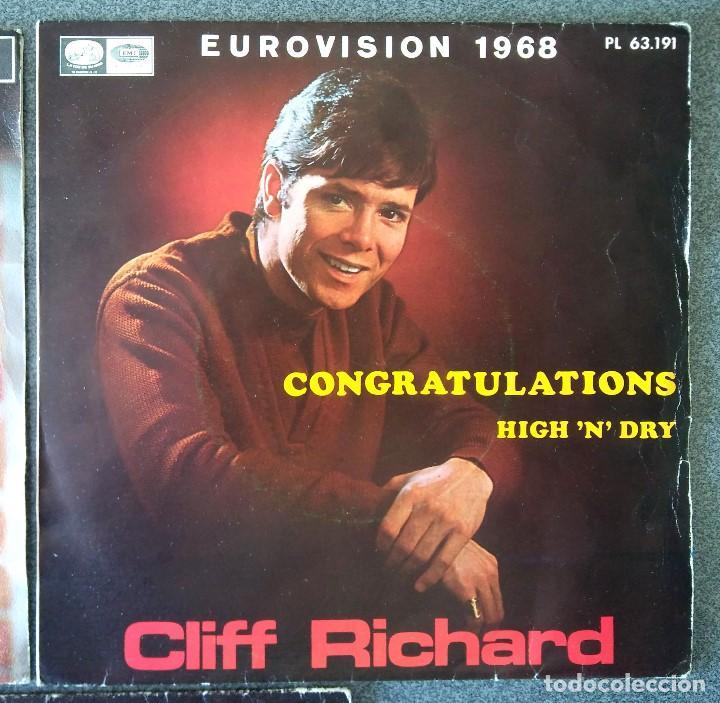 Discos de vinilo: Lote singles Tom Jones Cliff Richards Danyel Gerard - Foto 4 - 145715678