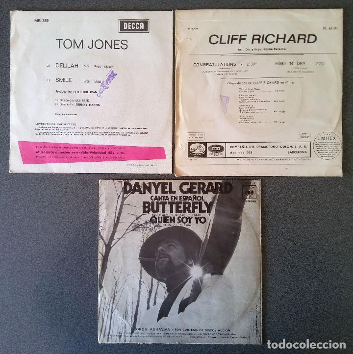 Discos de vinilo: Lote singles Tom Jones Cliff Richards Danyel Gerard - Foto 6 - 145715678