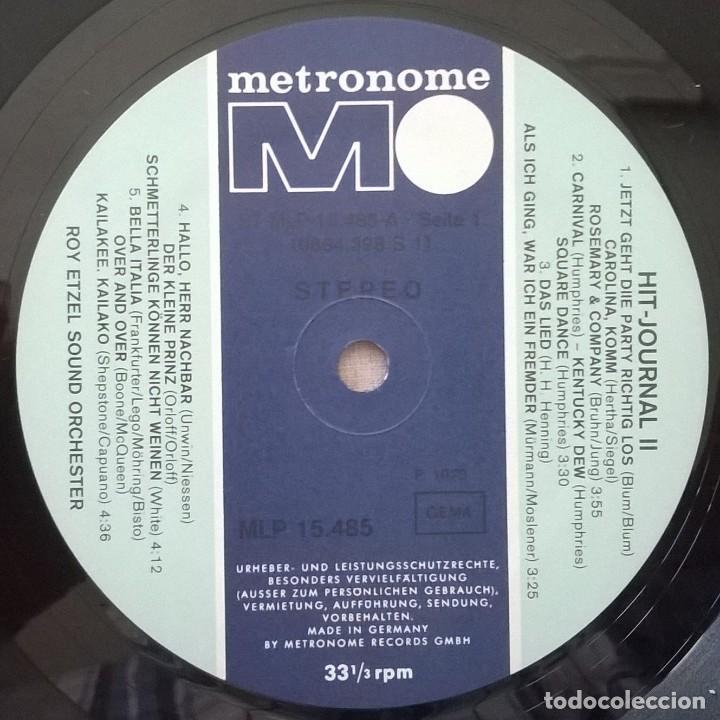 Discos de vinilo: Roy Etzel Sound Orchester-Hit-Journal 2, Metronome-MLP 15.485 - Foto 4 - 145725850