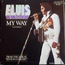 Discos de vinilo: ELVIS PRESLEY - MY WAY (A MI MANERA) PROMOCIONAL SPAIN 1978 SINGLE **. Lote 145736654