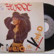 Dischi in vinile: SWEET - TE QUIERO DE VERDAD - SINGLE 1989 - ARIOLA. Lote 145748290