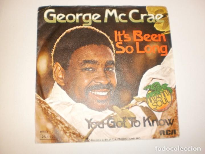 SINGLE GEORGE MC CRAE. IT'S BEEN SO LONG. YOU GOT TO KNOW. RCA 1975 GERMANY (PROBADO Y BIEN) (Música - Discos - Singles Vinilo - Pop - Rock - Extranjero de los 70)