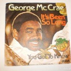 Discos de vinilo: SINGLE GEORGE MC CRAE. IT'S BEEN SO LONG. YOU GOT TO KNOW. RCA 1975 GERMANY (PROBADO Y BIEN). Lote 145771590