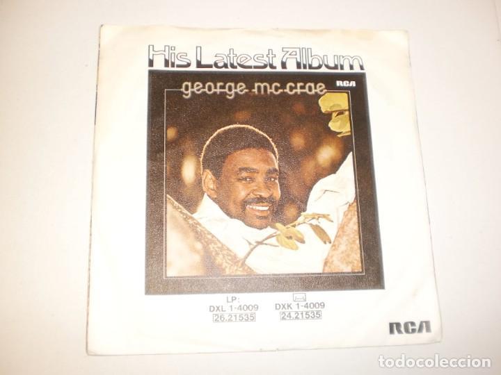 Discos de vinilo: single george mc crae. its been so long. you got to know. rca 1975 germany (probado y bien) - Foto 2 - 145771590