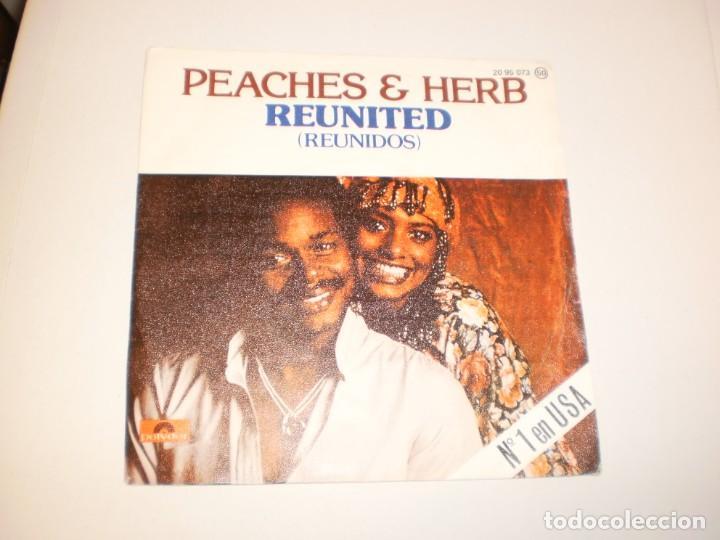 SINGLE PEACHES & HERB. REUNITED. WE GOT LOVE. POLYDOR 1978 SPAIN (PROBADO Y BIEN) (Música - Discos - Singles Vinilo - Pop - Rock - Extranjero de los 70)