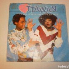 Discos de vinilo: SINGLE OTTAWAN. HANDS UP. CARRERE 1981 SPAIN (PROBADO Y BIEN). Lote 145775098