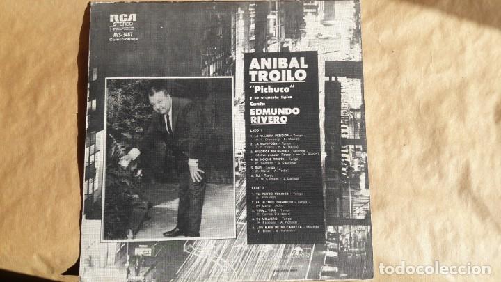 Discos de vinilo: Rivero / Troilo - Aníbal Troilo Pichuco Y Su Orquesta Típica - Canta Edmundo Rivero. Tangos. - Foto 2 - 145779962